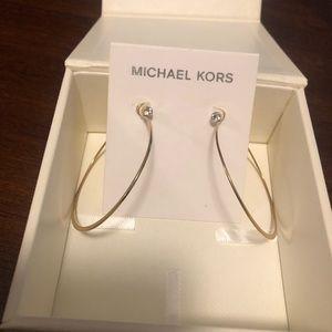 Michael Kors gold hoop earrings